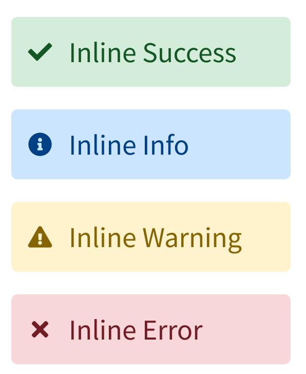 Inline Message